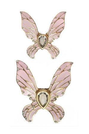 Broche Bottom Borboleta Dupla