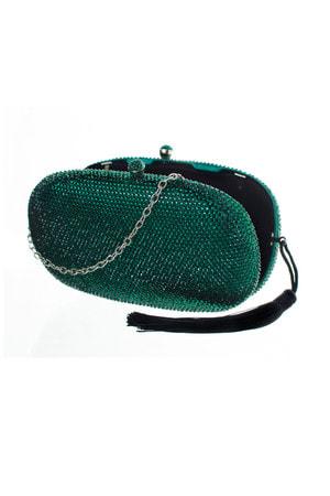 Clutch Oval Brilhos Tassel