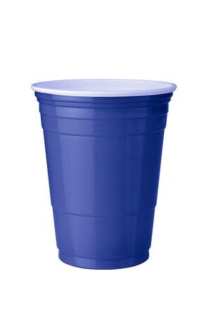 Copo Azul Plástico Para Festas - Red Cup - 50 Unidades