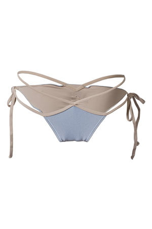 Tanga Recortes Blue Nude
