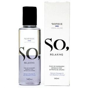 Óleo de Massagem Bifásico com Extrato de Amora - So, Relaxing 140 ml - Linha Sophie
