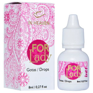 Excitante Feminino em Gotas For Lady Que Vibra, Esquenta e Pulsa 8ml