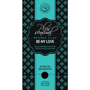 Sachets de Plaisir Be My Love - Óleo de Massagem Afrodisíaco com Extrato de Caviar