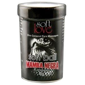 Bolinha Excitante Mamba Negra com Efeitos Mais Aguçados - 2 Unidades