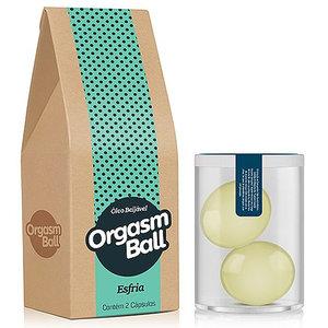 Bolinha Funcional Orgasm Ball Versão Esfria com 2 Unidades