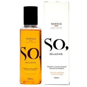 Sabonete Líquido So, Relaxing Frescor do Pêssego 140 ml - Sophie Sensual Feelings