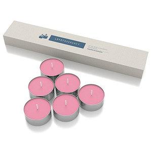 Kit de Velas Aromáticas Decorativas Love Fragrancy - 6 Unidades