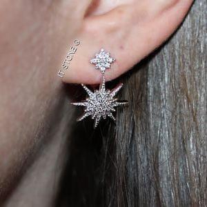 Ear Jacket Two Stars
