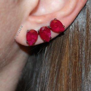 Ear Cuff 3 Gotas Rubi Fusion