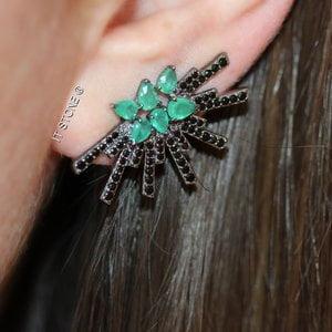Ear Cuff Norddic Esmeralda Fusion Negro
