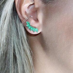 Ear Cuff Navetes Esmeralda
