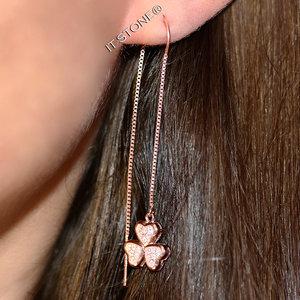 Brinco Line Three Hearts Rosé