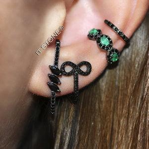 Ear Hook 3 Navetes Negro
