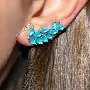 Ear Cuff Mya Turmalina Leitosa