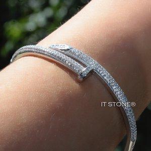 Bracelete Prego Cravejado Luxo