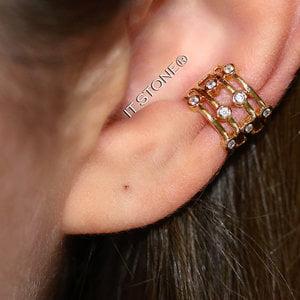 Piercing Falso Dots Dourado (unidade)