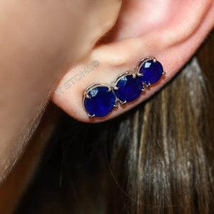 Ear Cuff Triplo Safira