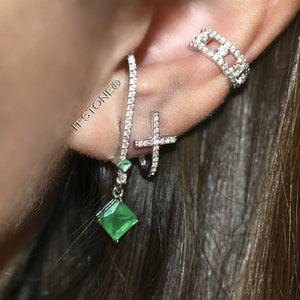 Mix Ear Hook Losangle Esmeralda Fusion