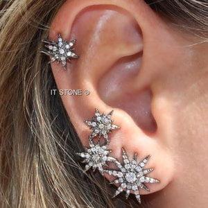 Ear Cuff Constelação Ródio Negro