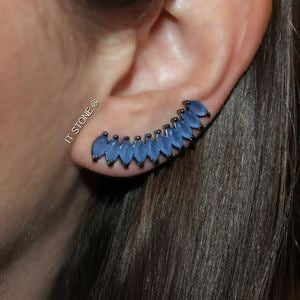 Ear Cuff New Navetes Blue Jeans Negro