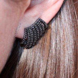 Ear Cuff New Aros Negro
