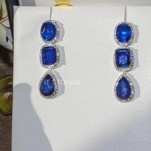 Brinco Pedras Liv Luxury Safira Fusion