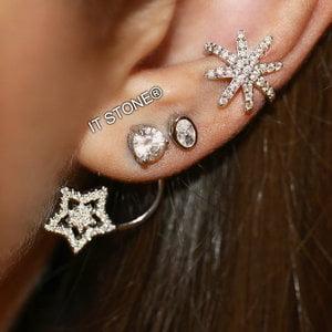 Ear Jacket Solitário Star