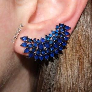 Ear Cuff Cindy Negro Safira