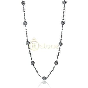 Colar Bolinhas Diamantadas Negro