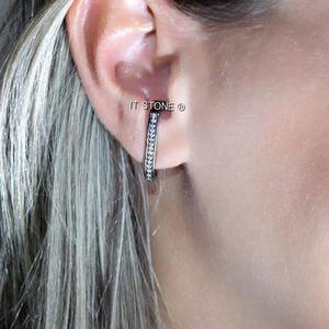 Ear Hook Zirconias Negro