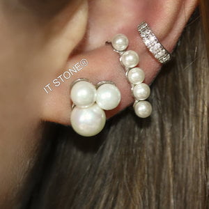Brinco Three Pearl