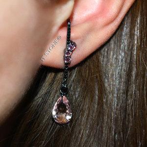 Ear Hook Iris Gota Morganita Negro