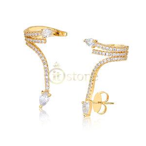 Ear Cuff Design Dourado