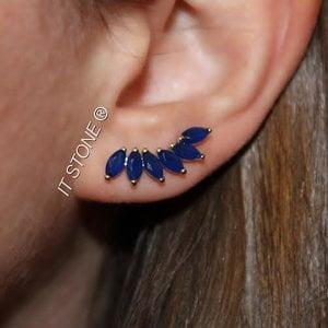 Ear Cuff Navetes Safira