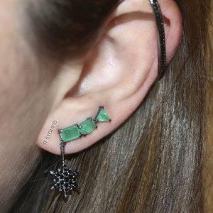 Piercing Hook Falso Cartilagem Negro (unidade)