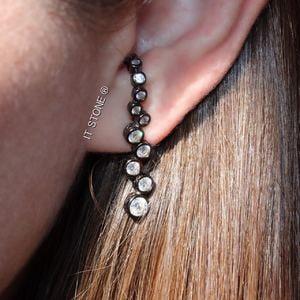 Ear Hook Bubble Ródio Negro