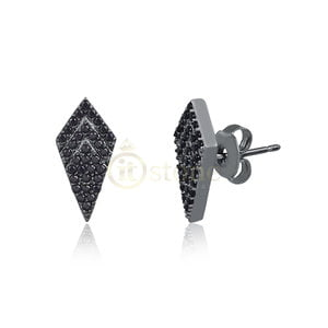 Brinco Vanity Micro Cravação Negro