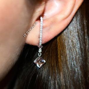 Ear Hook Losangle Morganita