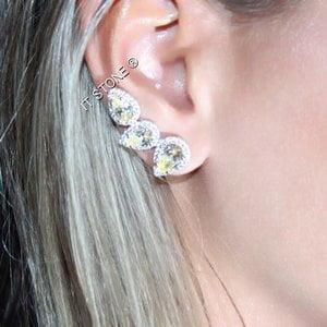 Ear Cuff J-Lo Fancy Yellow