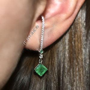 Ear Hook Losangle Esmeralda Fusion