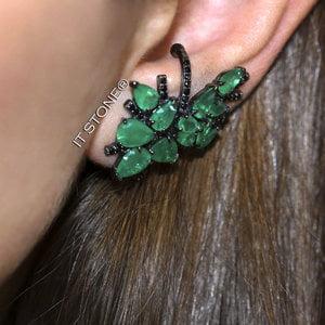 Ear Cuff Margery Esmeralda Fusion Negro