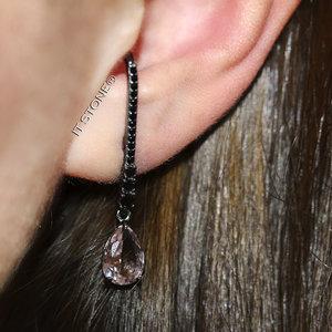 Ear Hook Classy Gota Morganita Negro