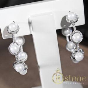 Argola Luxo Pearls