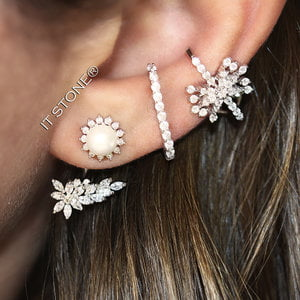Ear Jacket Sun Pearl