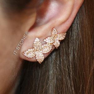 Ear Cuff Flowers Rosé