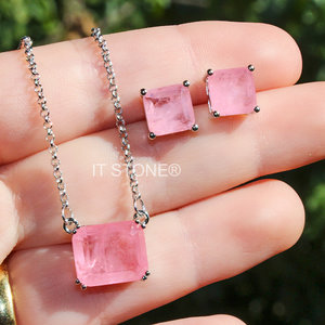 Conjunto Quadrado Quartzo Rosa Fusion