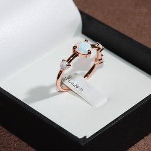 Anel New Opalas Brancas Rosé