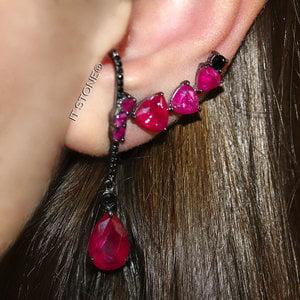 Ear Hook Iris Gota Rubi Fusion Negro