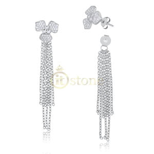 Ear Jacket Flower Tassel 2 em 1