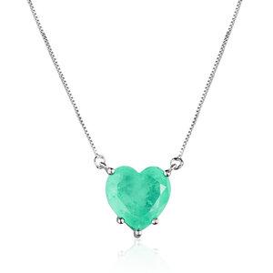 Colar New Heart Esmeralda Colombiana Fusion